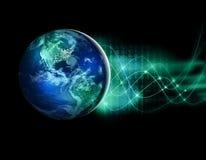 Tierra del espacio El mejor concepto del Internet de asunto global de la serie de los conceptos Elementos de esta imagen equipado imagen de archivo