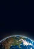 Tierra del espacio - elementos de esta imagen equipados por la NASA fotos de archivo libres de regalías