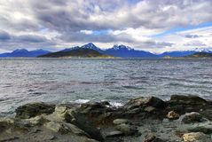 Tierra del Fuego National Park. Is a national park on the Argentine part of the island of Tierra del Fuego in the ecoregion of Patagonic Forest and Altos Andes royalty free stock photos