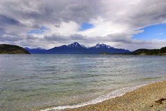 Tierra del Fuego National Park. Is a national park on the Argentine part of the island of Tierra del Fuego in the ecoregion of Patagonic Forest and Altos Andes Stock Photography