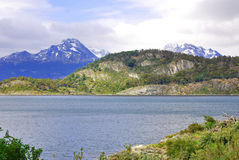 Tierra del Fuego National Park. Is a national park on the Argentine part of the island of Tierra del Fuego in the ecoregion of Patagonic Forest and Altos Andes Royalty Free Stock Image