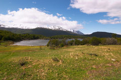 Tierra del Fuego National Park Mountains Stock Images