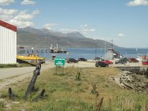 Tierra del fuego port Royalty Free Stock Photos