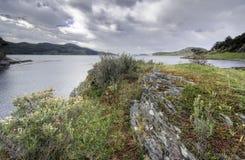 Tierra del Fuego, Ushuaia. La Argentina Imagenes de archivo