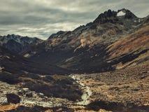 Tierra del Fugeo. Mountains, Passo Valdivieso. Ushuaia - Argentina. Trekking in Patagonia Stock Images