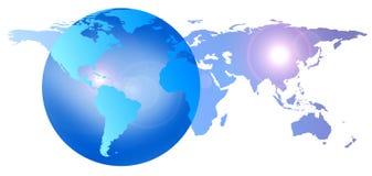 Tierra del globo del mundo ilustración del vector