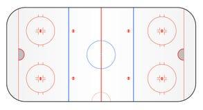 Tierra del hockey sobre hielo stock de ilustración