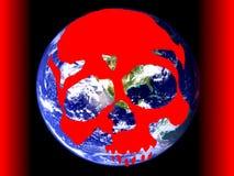 Tierra del peligro del cráneo de la ilustración Foto de archivo libre de regalías