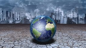 Tierra del planeta antes de la metrópoli ilustración del vector