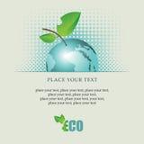 Tierra del planeta como manzana Foto de archivo libre de regalías