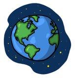 Tierra del planeta con las estrellas Fotografía de archivo