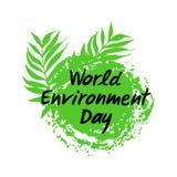 Tierra del planeta con las hojas de palma verdes aisladas en el fondo blanco libre illustration