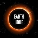 Tierra del planeta con salida del sol en espacio Día de tierra Ilustración del vector Fotografía de archivo