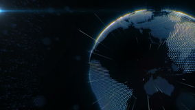 Tierra del planeta conectada libre illustration