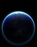 tierra del planeta 3D Elementos de esta imagen equipados por la NASA otro Foto de archivo