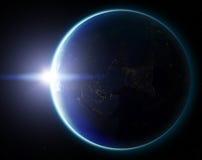 tierra del planeta 3D Elementos de esta imagen equipados por la NASA otro Fotos de archivo