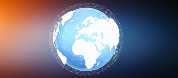 Tierra del planeta de Digitaces y x27; 3D rendering& x27; Stock de ilustración