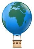 Tierra del planeta del viaje del globo del aire caliente de Europa África Imagenes de archivo