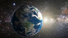 Tierra del planeta en espacio stock de ilustración