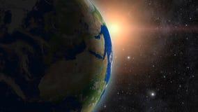 Tierra del planeta en espacio ilustración del vector
