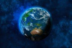 Tierra del planeta en espacio Australia y parte de Asia libre illustration