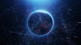 Tierra del planeta en espacio y el mundo abstracto del chisme ilustración del vector