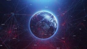 Tierra del planeta en espacio y el mundo abstracto del chisme stock de ilustración
