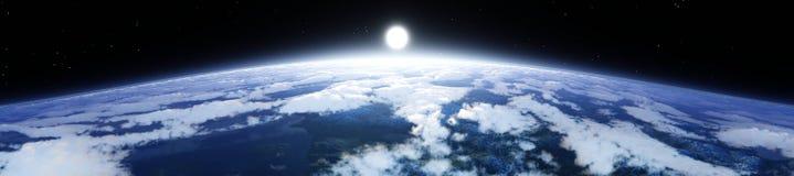 Tierra del planeta en la salida del sol de la órbita libre illustration