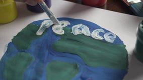 Tierra del planeta en paz almacen de video