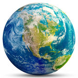 Tierra del planeta - los E.E.U.U. Imagen de archivo libre de regalías