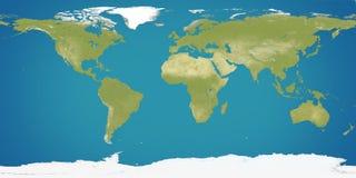 Tierra del planeta, mapa del mundo 3D-Illustration Elementos de esta imagen Fotografía de archivo