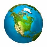 Tierra del planeta - Norteamérica Fotografía de archivo libre de regalías