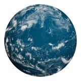 Tierra del planeta Océano y nubes Imágenes de archivo libres de regalías
