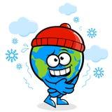 Tierra del planeta que consigue frío en invierno libre illustration
