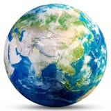 Tierra del planeta - representación de Asia 3d Imagen de archivo libre de regalías