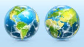Tierra del planeta sistema del icono del vector 3d stock de ilustración