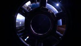 Tierra del planeta vista del comienzo del espacio del Océano Índico al Océano Pacífico almacen de video