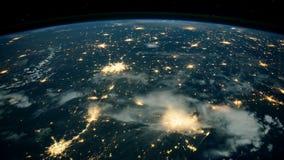Tierra del planeta vista el estación espacial internacional ISS Tierra hermosa del planeta observada de espacio Tiempo de la NASA