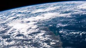 Tierra del planeta vista el estación espacial internacional ISS Tierra hermosa del planeta observada de espacio Tiempo de la NASA almacen de video