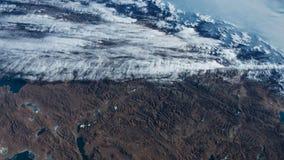 Tierra del planeta vista del ISS Tierra hermosa del planeta observada de espacio Elementos de este vídeo equipado por la NASA