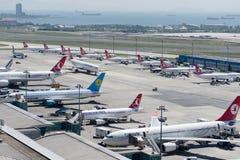 Tierra del sur del aeropuerto de LTBA Estambul Ataturk Imagen de archivo