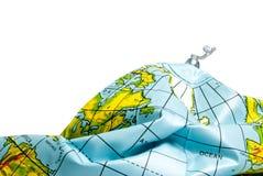 Tierra desinflada del planeta Imagen de archivo libre de regalías