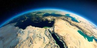 Tierra detallada ?frica y Oriente Medio