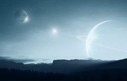 Tierra distante Imagen de archivo