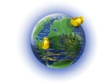 Tierra - el agua de superficie más grande. Foto de archivo libre de regalías