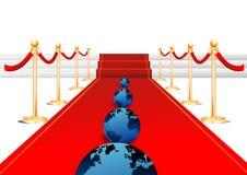 Tierra en alfombra roja Imagen de archivo