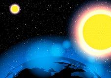 Tierra en el ejemplo del vector de la galaxia GC4981 algunos elementos de esta imagen equipados por la NASA Fotografía de archivo libre de regalías