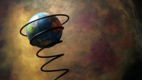 Tierra en el movimiento el la primavera almacen de video