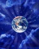 Tierra en espacio Fotografía de archivo libre de regalías