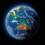 Tierra en espacio Imagenes de archivo